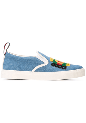 Gucci denim slip-on sneakers - Blue