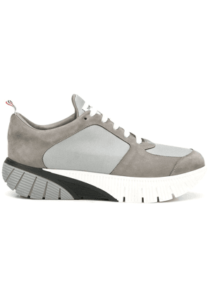 Thom Browne Raised Rubber Sole Running Shoe - Grey