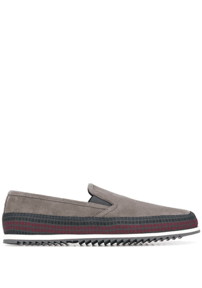 Car Shoe panelled loafers - Grey