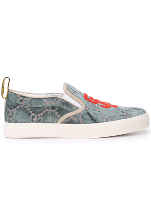 Gucci SF Giants GG Supreme slip on sneakers - Green