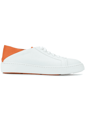 Santoni lace-up sneakers with socks - White