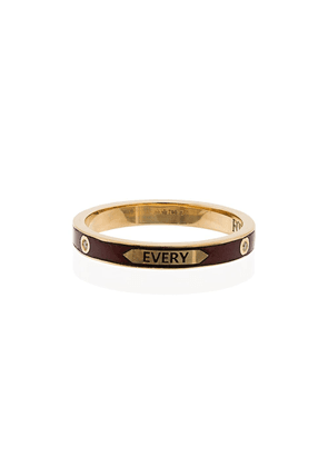 Foundrae with every breath thin band ring - Metallic