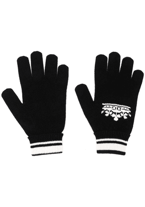 Dolce & Gabbana crown logo intarsia gloves - Black