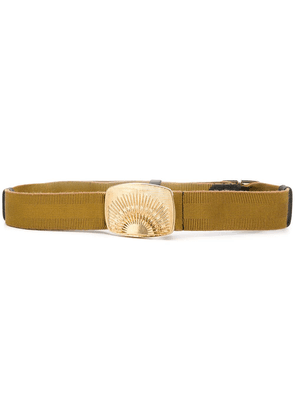 Dorothee Schumacher engraved buckle belt - Gold
