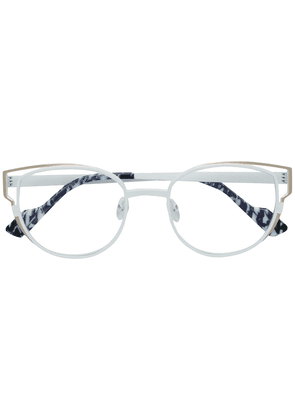 Face À Face cat eye shaped glasses - White