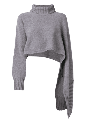 Dorothee Schumacher roll neck sweater scarf - Grey