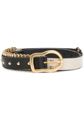 Dorothee Schumacher studded two tone belt - Black