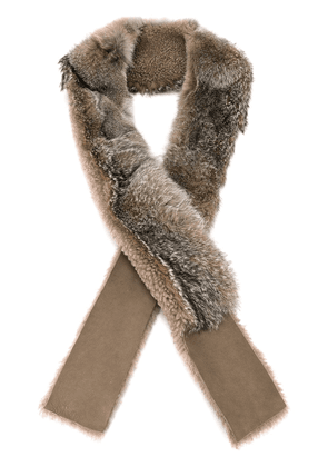 32 Paradis Sprung Frères fox fur and shearling scarf - Neutrals