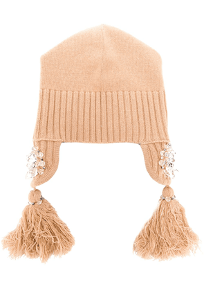 Dorothee Schumacher tassel embroidered hat - Neutrals