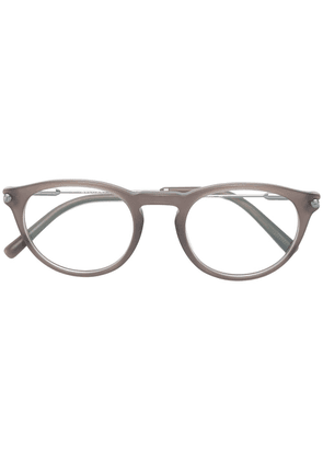 Bulgari frosty round shaped glasses - Grey