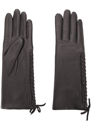 Agnelle gloves with lace detail - Grey