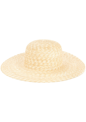Federica Moretti wide brim hat - Brown
