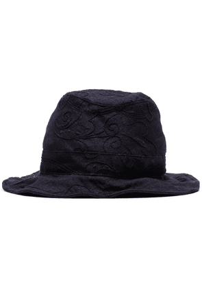 By Walid Firas floral embroidered hat - Blue