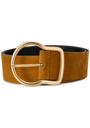 Dorothee Schumacher gold-tone buckle belt - Brown