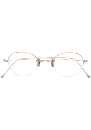Eyevan7285 classic oval glasses - Metallic