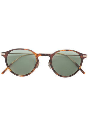 Eyevan7285 tortoiseshell-effect round sunglasses - Brown