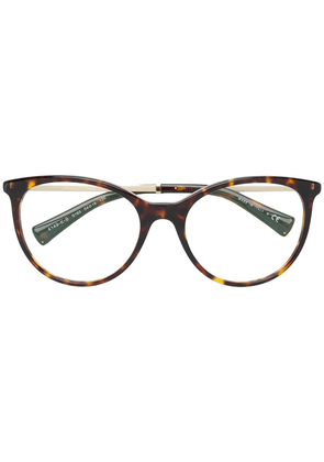 Bulgari tortoiseshell oversized glasses - Brown