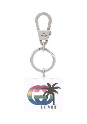 Gucci Loved palm tree keyring - White
