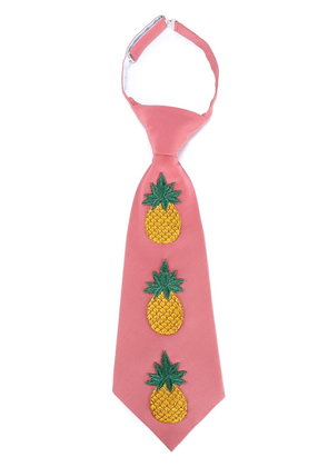 Gucci multicoloured Embroidered Pineapple Silk-Blend Tie - Pink