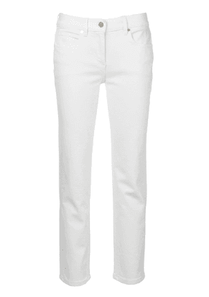 Calvin Klein cropped slim-fit jeans - White