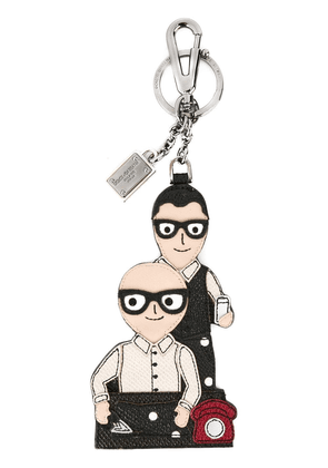 Dolce & Gabbana Designers patch keyring - Multicolour