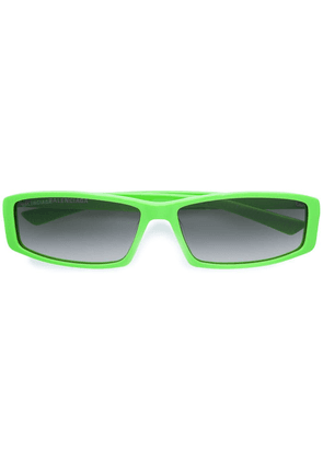 Balenciaga rectangular sunglasses - Green