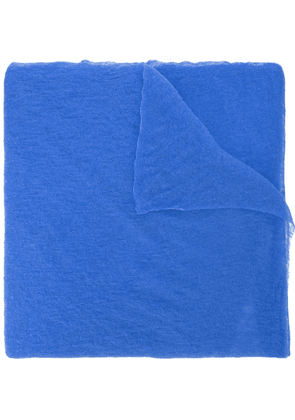 Botto Giuseppe long plain scarf - Blue