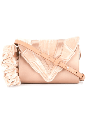 Elena Ghisellini small velvet crossbody bag - Pink