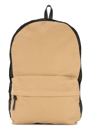 Cabas contrast panel backpack - Brown