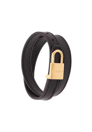 Buscemi wrap around lock bracelet - Black