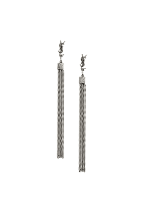 Saint Laurent LouLou tassel earrings - Metallic