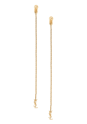Saint Laurent Opyum monogram earrings - Gold