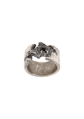 Tobias Wistisen diamond embellished ring - Silver
