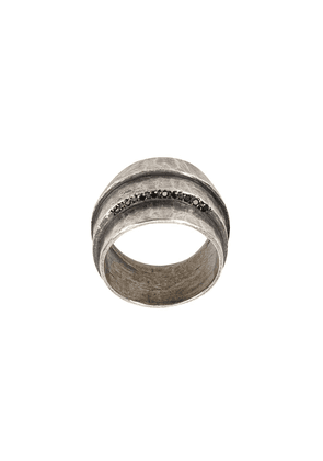 Tobias Wistisen encrusted detailed ring - Silver