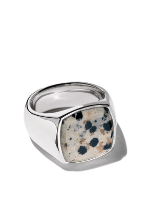 Tom Wood cushion leopard ring - Silver