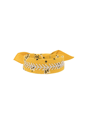 Fallon embellished bandana choker - Yellow