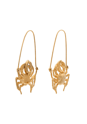 Givenchy gold tone crab earrings - Metallic