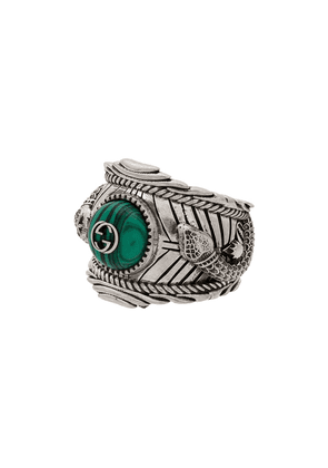Gucci Garden Sterling silver plated brass logo ring - Metallic