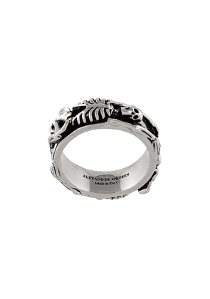 Alexander McQueen skeleton ring - Metallic
