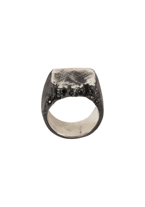 Tobias Wistisen Edge Stones Chevaliere ring - Black