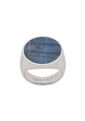 Tom Wood stone signet ring - Silver