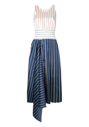 Charles Jeffrey Loverboy stripe flared midi dress - Multicolour