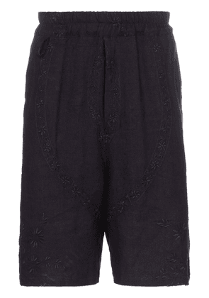 By Walid Lorenzo 1920s embroidered shorts - Blue