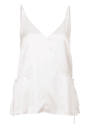 Derek Lam 10 Crosby V-Neck Cami with Side Ties - White
