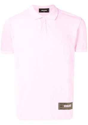 Dsquared2 logo patch polo shirt - Pink