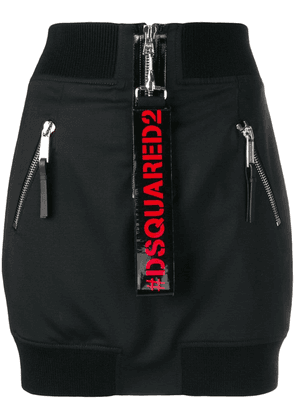 Dsquared2 multizip aviator skirt - Black