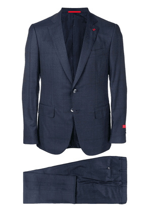 Isaia checkered suit - Blue