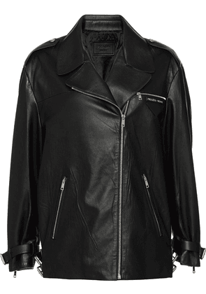 Prada oversized biker jacket - Black