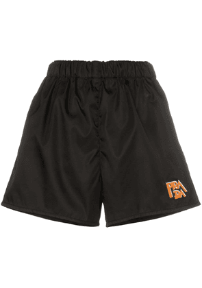 Prada logo patch nylon shorts - Black