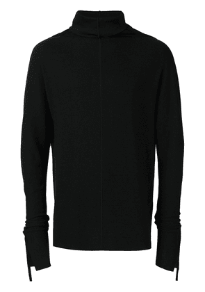 Cedric Jacquemyn side taped turtleneck sweater - Black